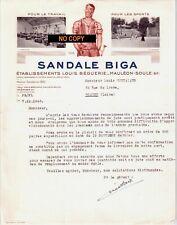 Beau Document du 07/12/1948 SANDALE BIGA - BEGUERIE - Mauléon-Soule 64