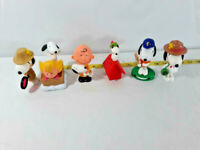 Lot of 6 Peanuts Charlie Brown Snoopy Toys Figures  McDonalds Ships FREE
