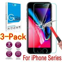 3X 9H Tempered Glass Screen Protector Film For Apple iPhone X 8 7 7 Plus 6 6S SE