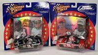 Lot Of 2 2001 Hasbro Winner's Circle Double Platinum Dale Earnhardt & Jr. LE Car
