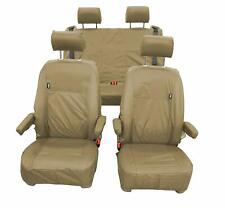 VW California Ocean T6 Inka Fully Tailored Waterproof Seat Covers Airbag Sand
