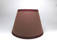 Primitive Burgundy Wheat Plaid Homespun Fabric Lampshade Lamp Shade
