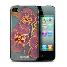 STUFF4 Phone Case for Apple iPhone Smartphone/Floral Silk Effect/Cover