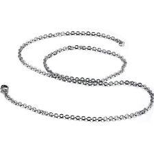 Edelstahl unisex Damen Herren Kette Panzerkette Halskette Länge 45cm 50cm 55cm