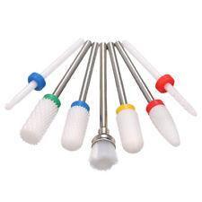 7pcs Ceramic Nail Drill Bits Set Pedicure & Manicure Drill Bits Kit E1H6