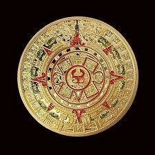 Profecía Maya Azteca Calendario recuento De Larga Medalla Medallón Moneda Conmemorativa