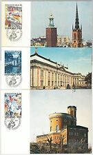 57454 - SWEDEN - POSTAL HISTORY:  set of 3  MAXIMUM CARD 1985  -  ARCHITECTURE