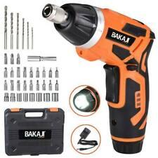 Bakaji 02833117 Kit Avvitatore a Batteria con 38 Punte Torcia LED e Valigetta - Nero/Arancione