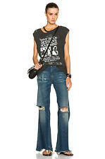 ~NEW~ R13 $595 Jane Distress mid-rise flare Selvedge Jeans in Dylan Vintage 28