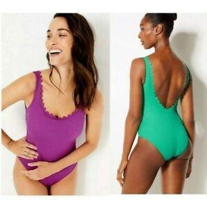 Marks & Spencer M&S Secret Slimming Textured Scoop Neck Swimsuit Brand New