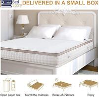 "BedStory 2"" 3"" Cooling Gel Memory Foam Mattress Topper Comfort Washable Cover US"