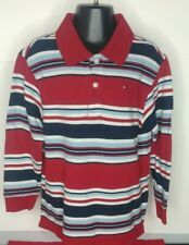 BOY'S SIZE 4T GUC TOMMY HILFIGER RED STRIPED POLO SHIRT