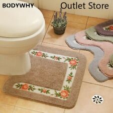 Toilet Rug U-Shaped Non Slip Absorbent Soft Washable Rugs Floor Carpet Bath Mat