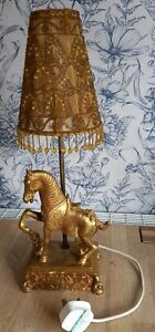Horse Table lamp working