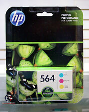 Genuine HP 564 Color Ink Cartridges combo Cyan Magenta Yellow NEW Exp 2019