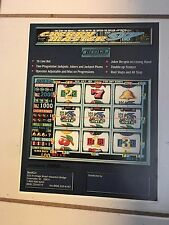 """""""CHERRY MASTER '97""""BY BEST- VIDEO SLOTS PROMO BROCHURE IN PLASTIC COVER"""