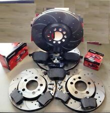 AUDI A3 TFSI TDI FSI PERFORMANCE DRILLED GROOVED BRAKE DISCS PADS SET FRONT REAR