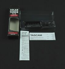 TASCAM TC-1S SOLOR RECHARGEABLE TUNER OUT OF PRODUCTION LEFTOVER NOS W/BELT CLIP