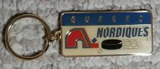 Vintage Quebec Nordiques NHL hockey enamel Keychain Keyring 1993 NOS