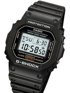 Casio G-Shock Mens Watch DW5600E-1V  DW-5600E-1V Digital Black Retro Sports