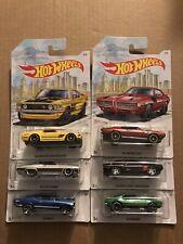 Hot Wheels DETROIT MUSCLE Set of all 6 Cars Walmart Exclusive Camaro Nova GTO ++