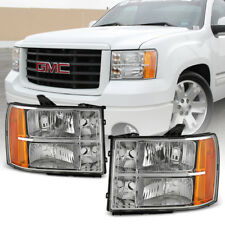 2007 2017 Gmc Sierra 1500 2500hd 3500hd Crystal Headlights Headlamps Left Right