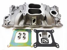 SB Chevy Aluminum Intake Manifold Spread Bore Idle-5500 SBC 55-95 305 327 350 V8