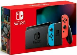 Nintendo Switch Console 32GB Memory with Neon Blue and Neon Red Joy Cons V2