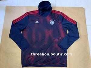 Adidas 2018-2019 BAYERN MUNICH MUNCHEN Navy Pre-Match Soccer Warm Training Top