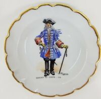 Porcelain de Limoges France goumot labesse Small Mini Plate French War Leliepvre