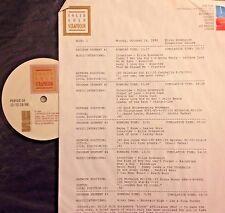 Radio Show: 10/24/88 ELLIE GREENWICH SONGWRITER SALUTE! 4 INTERVIEWS/16 SONGS