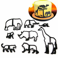 8 Pcs Plastic Biscuit Fondant Cutter Mould Animal Safari Silhouette Cake Decor