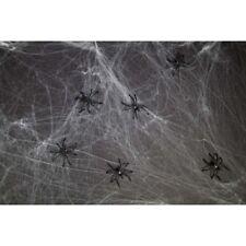 6 SPINNEN & SPINNENNETZ # Halloween Spinnenweben Grusel Horror Party Deko F23559