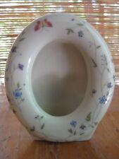Vintage Takahashi Porcelain Hand Decorated Floral Butterfly Photo Frame San Fran