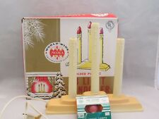 NOMA World Wide Christmas 3 Light Candolier Candle Electric Plastic Drip Org Box