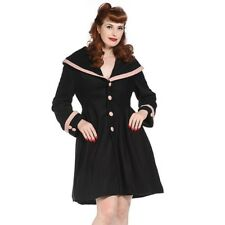 Banned Vintage Style Shawl Collar Coat - Black And Pink. Size 10 BNWT