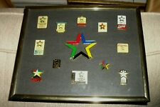 VINTAGE 1993 WORLD UNIVERSITY GAMES BUFFALO,NY PIN SET 13 RARE PINS KODAK FRAMED