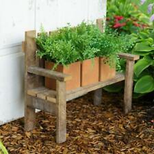 Garden Potting Bench Durable Wooden Rustic Display Outdoor Yard Patio Decoration