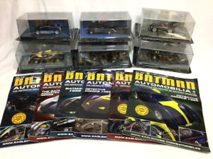 Eaglemoss 2013 DC Comics Batman Automobilia Batmobile Lot 6 Cars Book FREESHIP