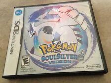 Pokemon Soul Silver Version Game in original case w/ manual Nintendo DS