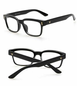 Hot Fashion Mens Womens Retro Clear Lens Glasses Frame Eyewear Unisex - Black