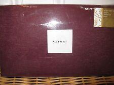 1 Natori Tangka Queen Wine Burgundy Bedskirt NIPI $175