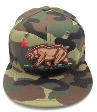 CALIFORNIA REPUBLIC Snapback Cap Hat Camouflage CALI Bear Flag Caps Hats Camo