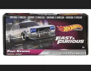Hot Wheels 1:64 Fast & Furious Rewind Premium Bundle Set of 5 GRB02 Diecast Car