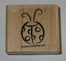 Ladybug Rubber Stamp New Stampin' Up! Insects Spots Retired Wood Mounted