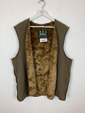 Vintage Barbour Faux Fur Jacket Lining Coat Acrylic Retro Brown A297 C42/ 107CM