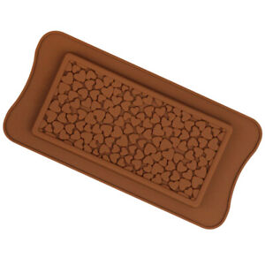 Love Heart Silicone Large Chocolate Bar Mould Sugarcraft Bake Mold Snap Wax Melt