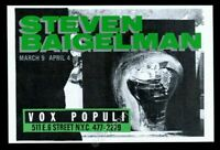 1985 Steven Baigelman art NYC gallery show vintage print ad