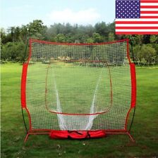 8X8FT Baseball and Softball Practice Net, used for pitching training -US