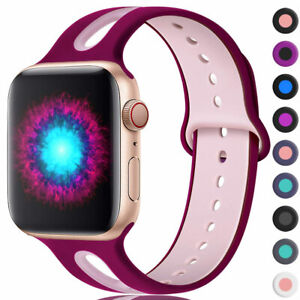 Silicone iWatch Bands Strap for Apple Watch Series 5/4/3/2/1 40 44/38 42mm Band